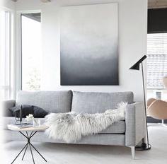 Grey toned lounge room