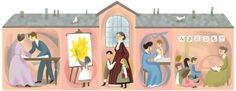 Google Banner - September 6, 2013 - Jane Addams 153rd Birthday - Jane Addams was a pioneer settlement worker, founder of Hull House in Chicago, public philosopher, sociologist, author, and leader in woman suffrage and world peace