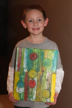 Great ideas for abstract painting using molding paste