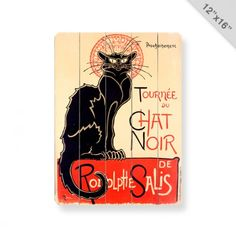 Tournee du Chat Noir Wall Art 12x16  I have this print on my living room wall!