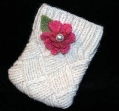 Upcycled sweater ipod cozy.