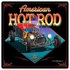 1d464b0f AMERICAN HOT ROD #Hotrodsclassiccars Automotive Art, Wall Art Decor, Race  Cars, Hot