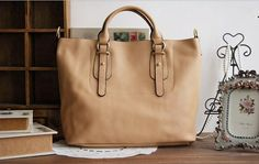 Apricot Leather Tote BagShoppercomputerIpadMacBook Bag  by NewBag, $109.90  http://www.etsy.com/listing/111759445/apricot-leather-tote-bag-shopper?