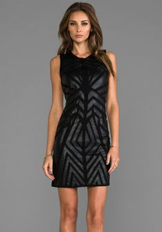 GREYLIN Ollie Faux Leather Cut Out Dress in Black at Revolve Clothing - Free Shipping!