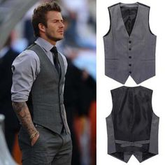 The new 2016 men's fashion leisure suit vest / Men's wedding banquet gentleman suit vest / Beckham with suit vest  v neck men-in Vests from Men's Clothing & Accessories on Aliexpress.com   Alibaba Group