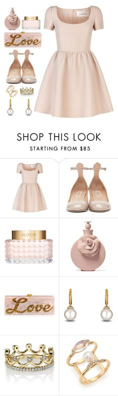 """Outfit of the Day"" by dressedbyrose ❤ liked on Polyvore featuring Valentino, Edie Parker, David Yurman, Erica Courtney and Paige Novick"