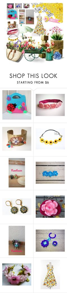 """Sweet flower"" by nanitas23 ❤ liked on Polyvore"
