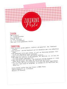 Rezept für Zucchinipesto - Post aus meiner Küche