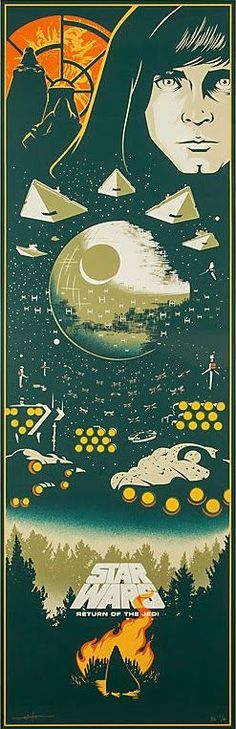 The Geeky Nerfherder: Cool Art: 'Star Wars: Return Of The Jedi' by Eric Tan