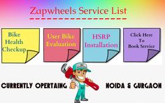 Checkout The @Zapwheels #bikeservices Feature List In #noida & #gurgaon