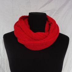 RED Cowl Scarf  Icelandic Production by HuldaGK on Etsy