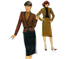 80s Pattern Style 3133 Jacket and Skirt by allthepreciousthings