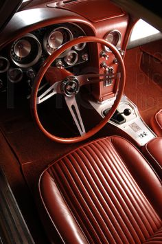 '63 Stingray, interior. Never been in one so I am not sure if this is the original interior, but it is absolutely gorgeous.