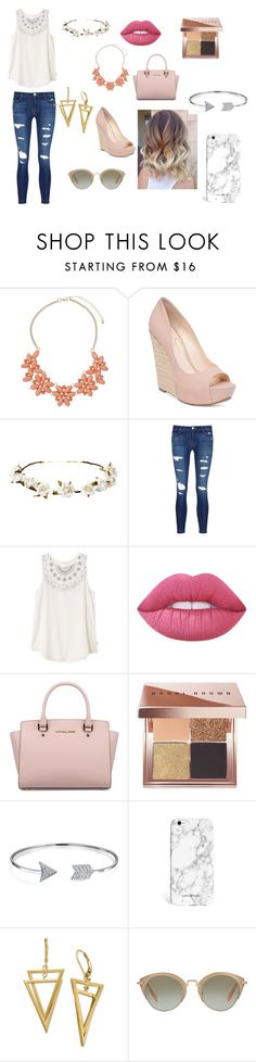 """""""Spring"""" by prettylittlefandom ❤ liked on Polyvore featuring Dorothy Perkins, Jessica Simpson, Cult Gaia, J Brand, RVCA, Lime Crime, Michael Kors, Bobbi Brown Cosmetics, Bling Jewelry and Miu Miu"""
