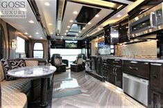 The best RV parks and RV rental, Goss RV has all your RV needs covered. Ride in luxury with our luxury RV motorcoaches. Luxury Rv Living, Cool Rvs, Best Rv Parks, Luxury Motorhomes, Rv Rental, Tv In Bedroom, Luxury Interior, Interior Design, Rv Camping