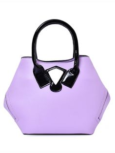 22$  Buy here - http://dien4.justgood.pw/go.php?t=3927 - Purple Contrast Patch Hexagon Tote Bag