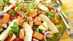 Pasta Salad, Cobb Salad, Fish, Ethnic Recipes, Red Peppers, Crab Pasta Salad, Pisces