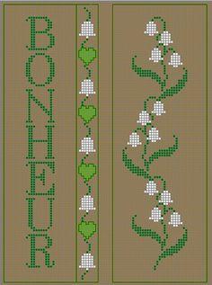Grille point de croix offerte Muguet Porte Bonheur! - Les grilles de Liselotte