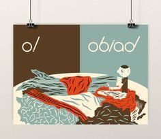 OBIAD (Lunch) © Patryk Mogilnicki. Screenprint.