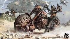 Rebel Bikes is a series of amazing post apocalyptic illustrations by artist Ignacio Bazán Lazcano, w Steam Punk, Apocalypse, Cyberpunk, Image Moto, Science Fiction, Creative Assembly, Arte Steampunk, Post Apocalyptic Art, Game Concept Art
