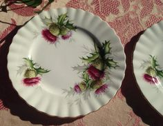 2 Royal Albert Highland Thistle Plates 6 3/8 by lDreamInSilver