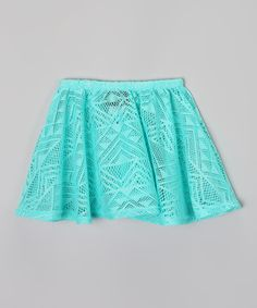 Look at this Dynamite Girls Mint Triangle Crochet Skirt - Toddler & Girls on #zulily today!