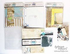 Super trendy life journal albums by Bo Bunny Press! This kit includes the binder, inserts, pages, and protectors to make the book PLUS loads of our signature Hydrangea Hippo yummies to make it special. These kits will make your scrapbooking go super quick and they display much like a 12x12 album--super easy to put on the bookshelf or coffee table. Think * Project Life *!