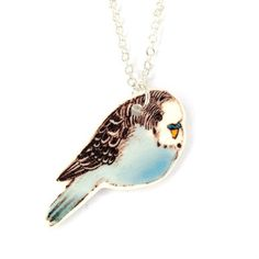 Blue budgie necklace Illustrated bird necklace by laylaamber Bird Necklace, Pendant Necklace, Blue Budgie, Good Find, Budgies, Animal Jewelry, Turquoise Necklace, Handmade Jewelry, Fashion Jewelry