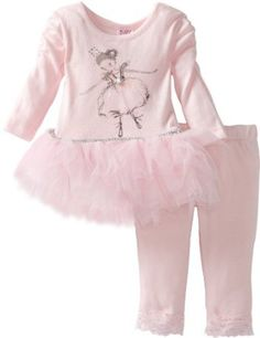 Blueberi Boulevard Baby Girls' Embroidered Ballerina Knit Set With Mesh Tutu Skirt Baby Girl Newborn, Baby Girls, Baby Accessories, Ballerina, Tutu, Paisley, Knitting, Skirts, Pink