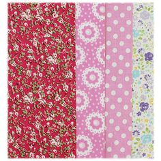 Autumn Floral Adhesive Fabric - Pack Of 4