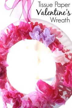 Paper Plate Valentine's Wreath for Toddlers and Preschoolers