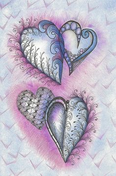 Soft Hearts in Blue by Paint Chip, via Flickr