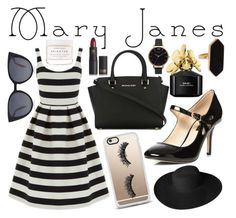 """""""Mary Janes"""" by xoxo-camellia on Polyvore featuring Fendi, Dorothy Perkins, MICHAEL Michael Kors, Marc Jacobs, Warehouse, Casetify, Dorfman Pacific, Herbivore, Lipstick Queen and Olivia Burton"""