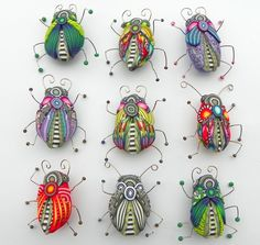 polymer clay bugs collection, no source unfortunately. --- totally cute and…