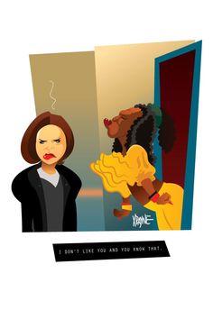 Gina & Sheneneh from Martin by Xavier Payne Black Girl Art, Black Women Art, Art Girl, Black Girls, Black Cartoon, Cartoon Art, African American Art, African Art, Dope Kunst