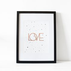 Love Art Print / Aff