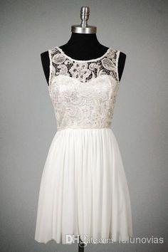 Lace Jewel Lace Top Chiffon Skirt pinterest chiffon 8th grade short graduation dresses