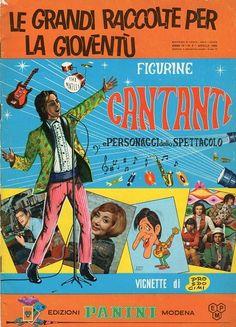 ALBUM FIGURINE CANTANTI PANINI COPERTINA 1968