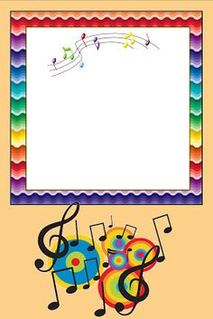 Imprimibles de notas musicales. | Ideas y material gratis para fiestas y celebraciones Oh My Fiesta! Borders For Paper, Borders And Frames, Music Border, Free Printable Stationery, Music Backgrounds, Music Images, Paper Frames, Stationery Paper, Note Paper