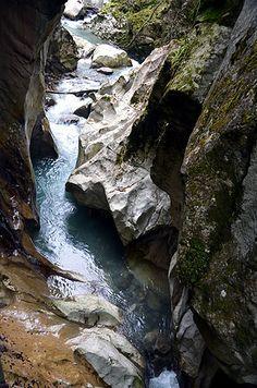 Les Gorges du Pont du Diable - Devil's Bridge Gorges is named after a fallen boulder that created a bridge over a narrow section of the Dranse de Morzine River.
