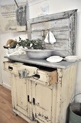 Repurposed cabinet-now houses a sink