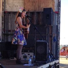 Live Music. Throwback to the lovely @catsanzaro at the 2014 #bellarineshow.  #eventsgeelong #localtalent #ourgeelongbellarine #portarlington #livemusic #visitgeelongbellarine #bellarinepeninsula #flowercrown #tbt by bellarineshow http://ift.tt/1KMCQ8M