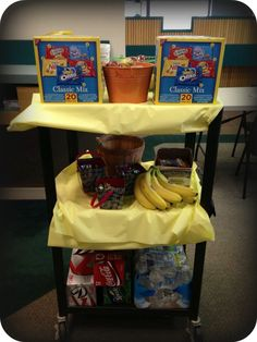 Snack Cart -  Surprise treat for our teachers !   thank you to child care center teachers.  Teacher appreciation  Teacher recognition flipmycenter.com