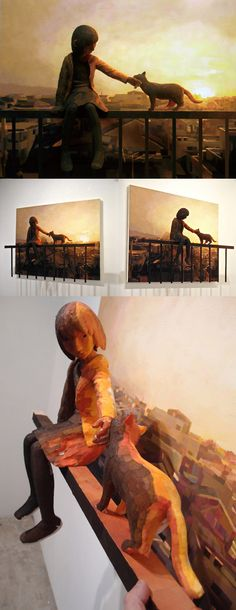 Shintaro Ohata, 2D and 3D pieces, paintings and sculptures