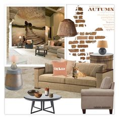 """""""Shades of fall"""" by rainie-minnie ❤ liked on Polyvore featuring interior, interiors, interior design, home, home decor, interior decorating, Fuji, RtA, Lazy Susan and Serena & Lily"""