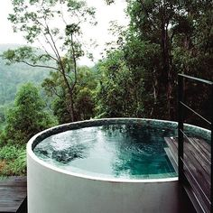 That view, that pool!  Water-tank turned plunge pool