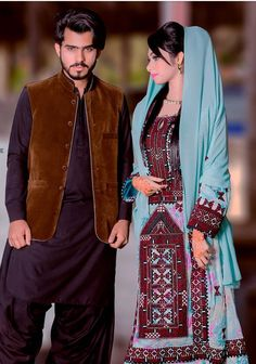 Balochi Cultural Dress - Balochistan - Pakistan Stylish Dress Designs, Stylish Dresses, Simple Dresses, Fashion Dresses, Baggy Dresses, Linen Dresses, Girls Dresses, Balochi Dress, Wedding Dressses