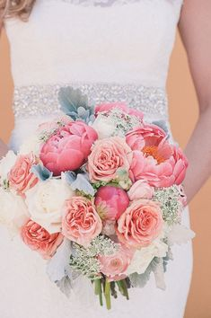 A Coral and Gold Rooftop Wedding in Florida