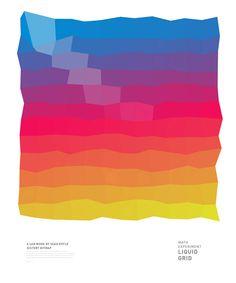 Liquid Bitmap Grid by Seah Doyle, via Behance
