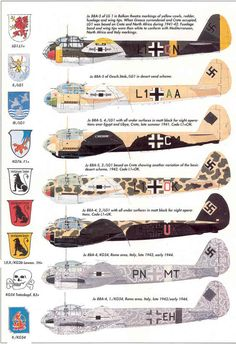 Junkers Ju 88 camouflage variants